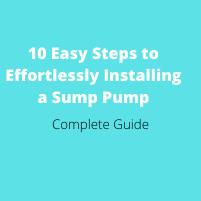Installing a Sump Pump