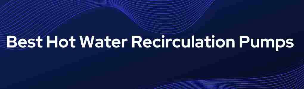 Best Hot Water Recirculation Pumps